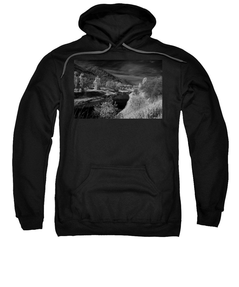 B&w Sweatshirt featuring the photograph Kootenai Wildlife Refuge In Infrared 3 by Lee Santa