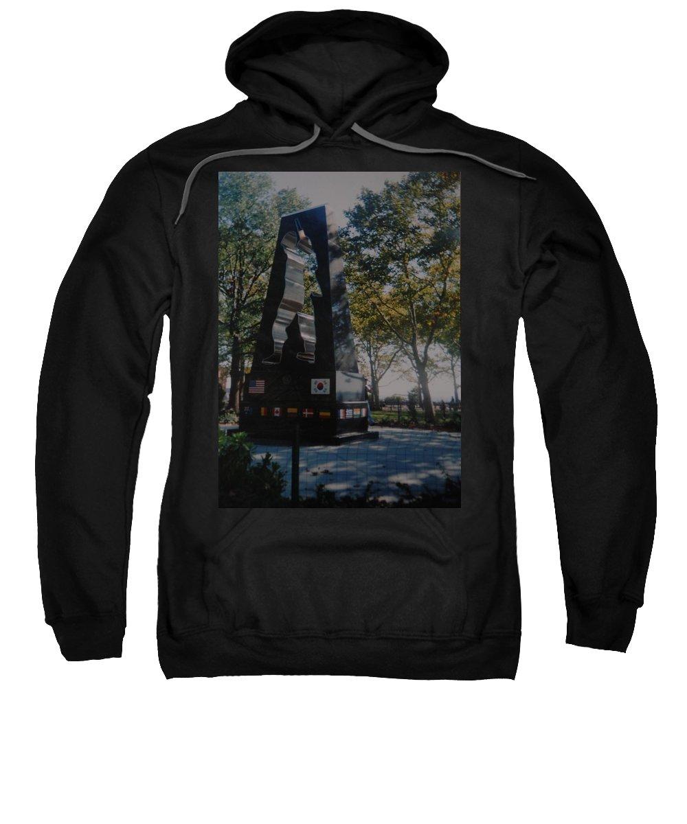 Korea Sweatshirt featuring the photograph Korean War Memorial by Rob Hans