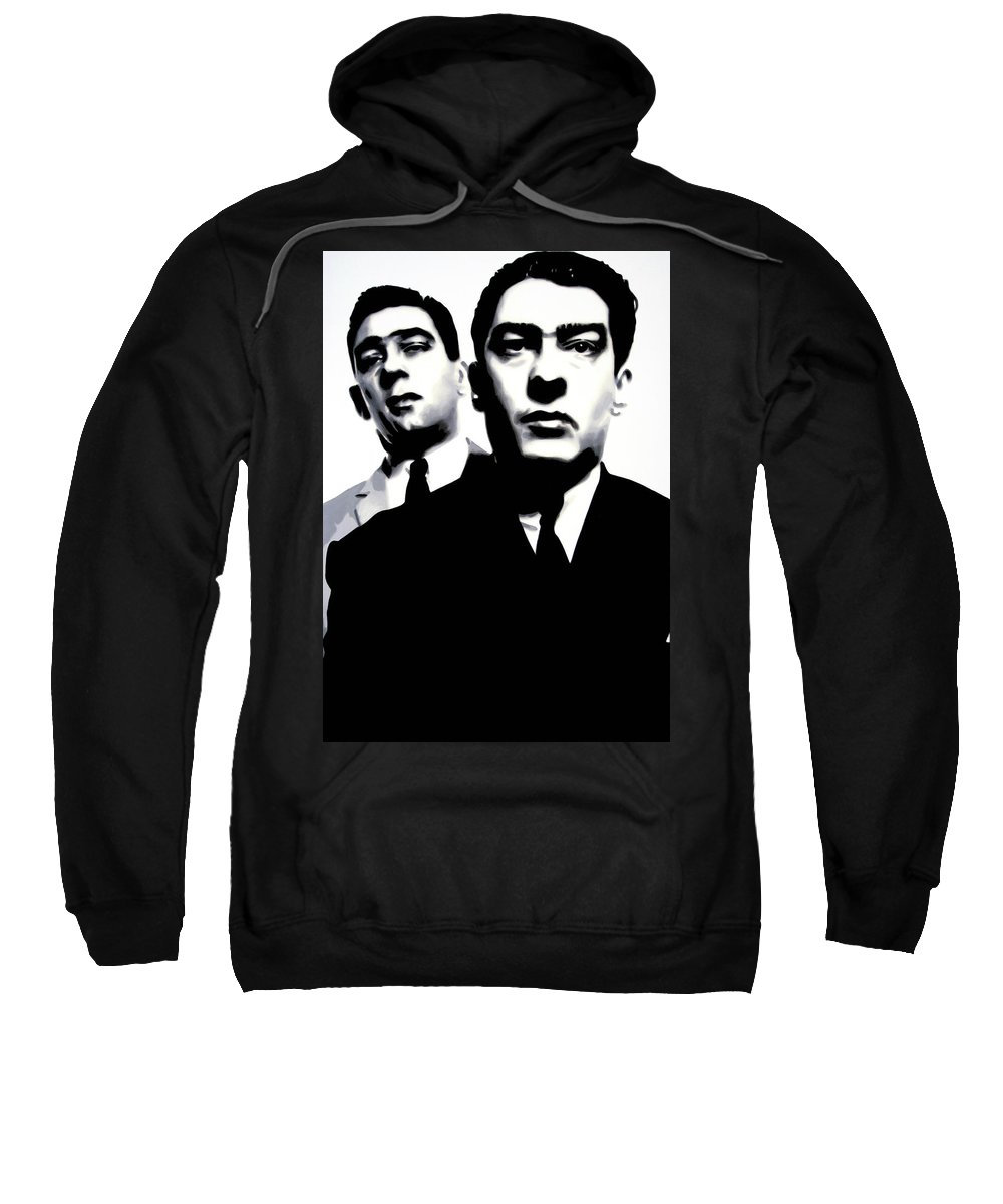 Krays Sweatshirt featuring the painting Kray Twins by Luis Ludzska