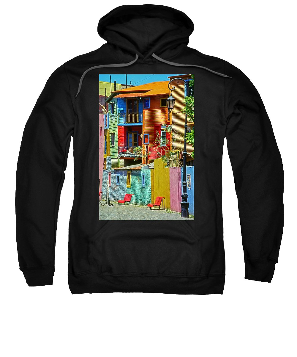 South America Sweatshirt featuring the photograph La Boca - Buenos Aires by Juergen Weiss