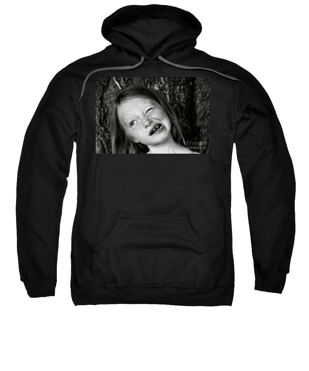 Portrait Sweatshirt featuring the photograph La Grimace by Aimelle