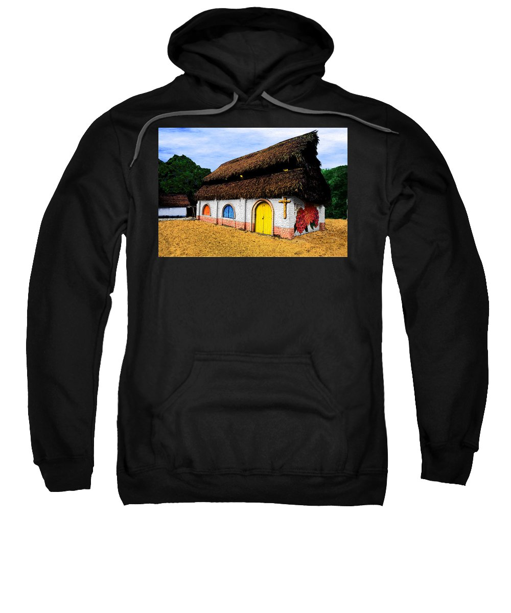 Photography Sweatshirt featuring the photograph La Iglesia Pequena by Paul Wear