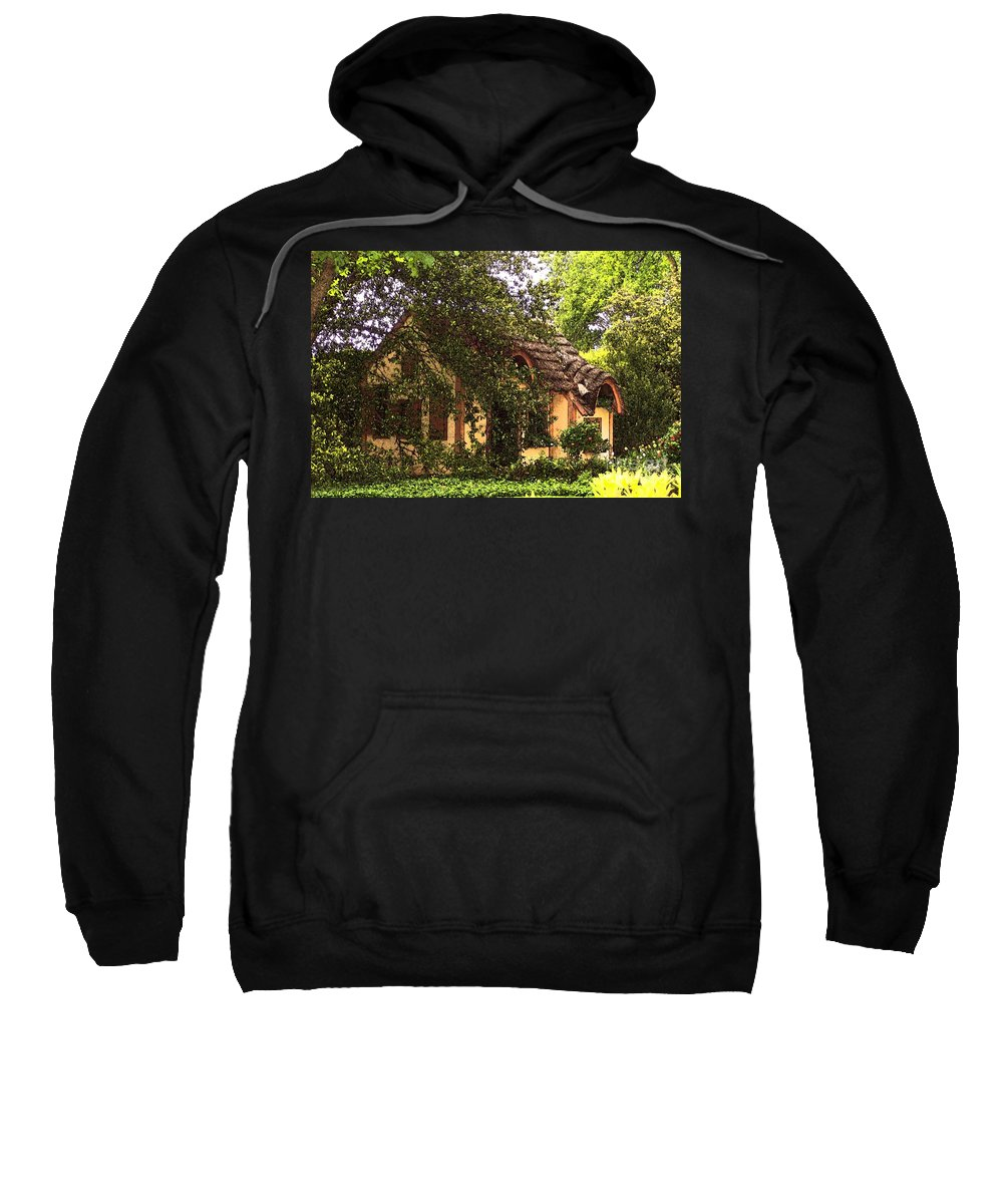 Cottage Sweatshirt featuring the photograph La Maison by Debbi Granruth