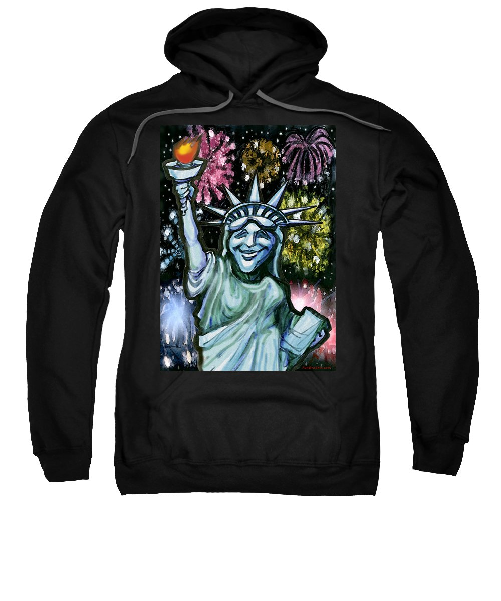 Liberty Sweatshirt featuring the painting Lady Liberty by Kevin Middleton
