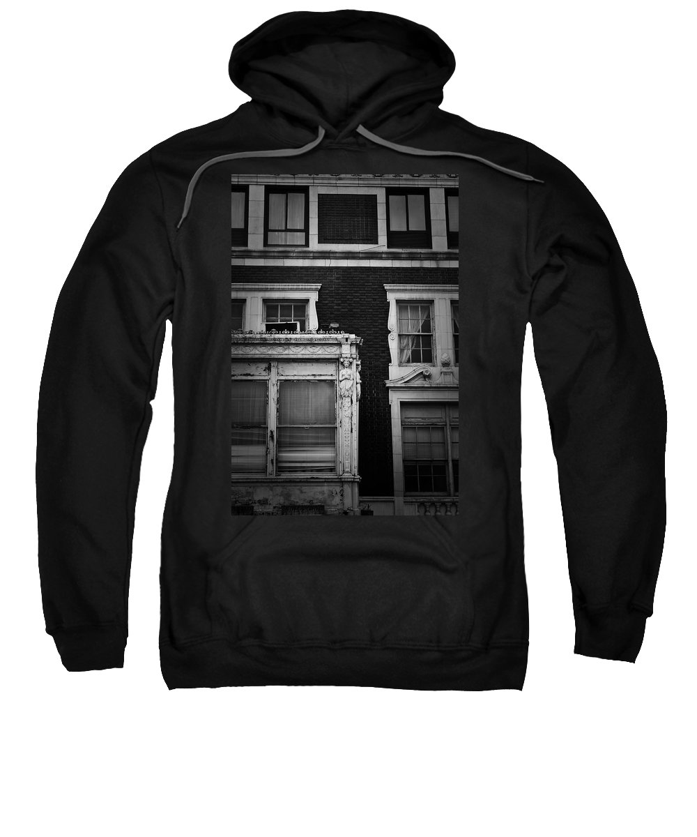 Roanoke Sweatshirt featuring the photograph Lady Of The Patrick Henry Hotel Roanoke Virginia by Teresa Mucha
