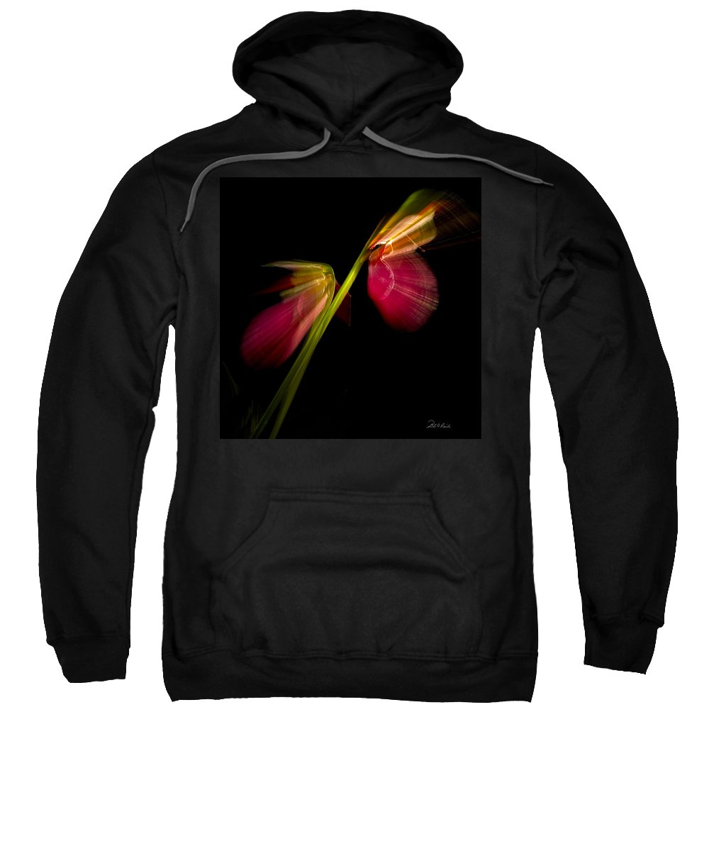 Photography Sweatshirt featuring the photograph Lady Slippers As Running Shoes by Frederic A Reinecke