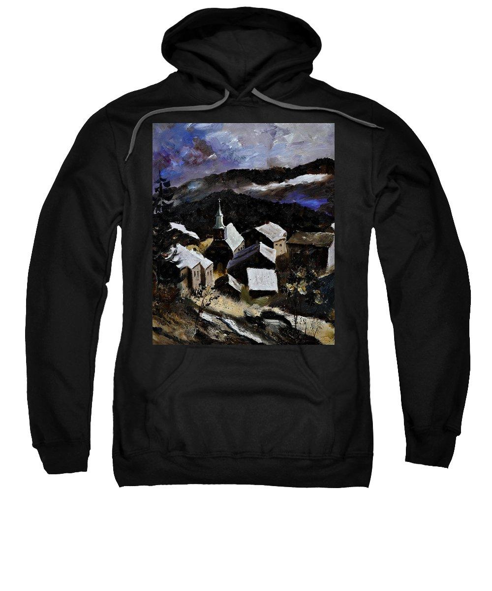 Landscape Sweatshirt featuring the painting Laforet Vresse by Pol Ledent