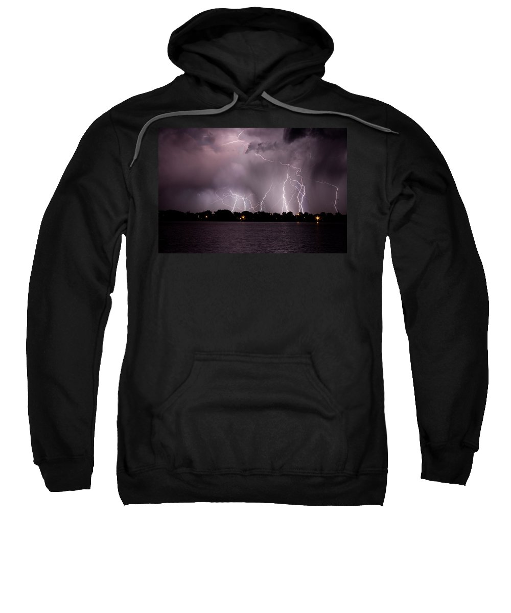 Lightning Sweatshirt featuring the photograph Lake Lightning 2 by James BO Insogna
