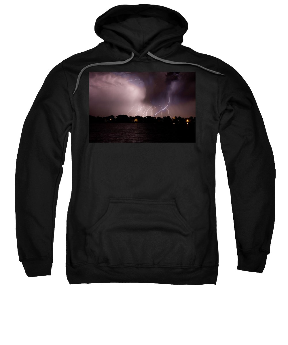 Lightning Sweatshirt featuring the photograph Lake Lightning 3 by James BO Insogna