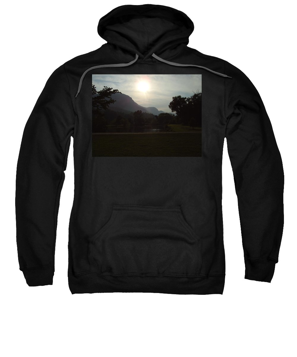 Lake Lure Sweatshirt featuring the photograph Lake Lure by Flavia Westerwelle