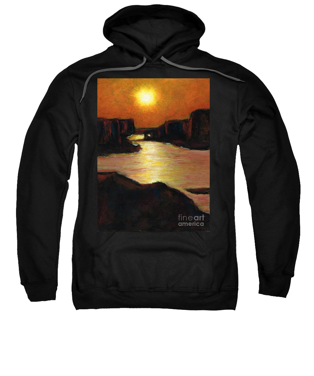 Lake Powell Sweatshirt featuring the painting Lake Powell At Sunset by Frances Marino