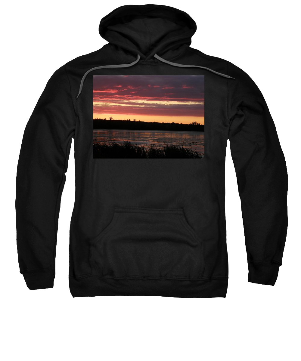 Sunset Sweatshirt featuring the photograph Lake Sunset by Alice Markham