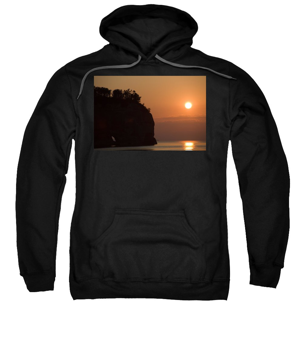 Lake Sweatshirt featuring the photograph Lake Superior Sunset by Sebastian Musial