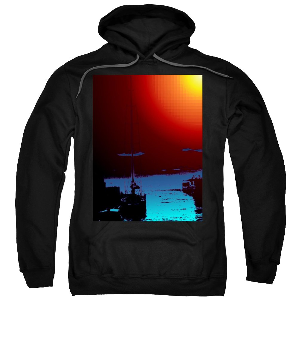 Seattle Sweatshirt featuring the photograph Lake Union Moorage by Tim Allen