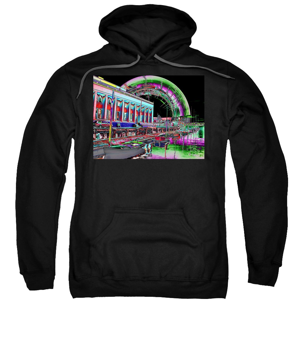 Seattle Sweatshirt featuring the photograph Lake Union Rainbow by Tim Allen