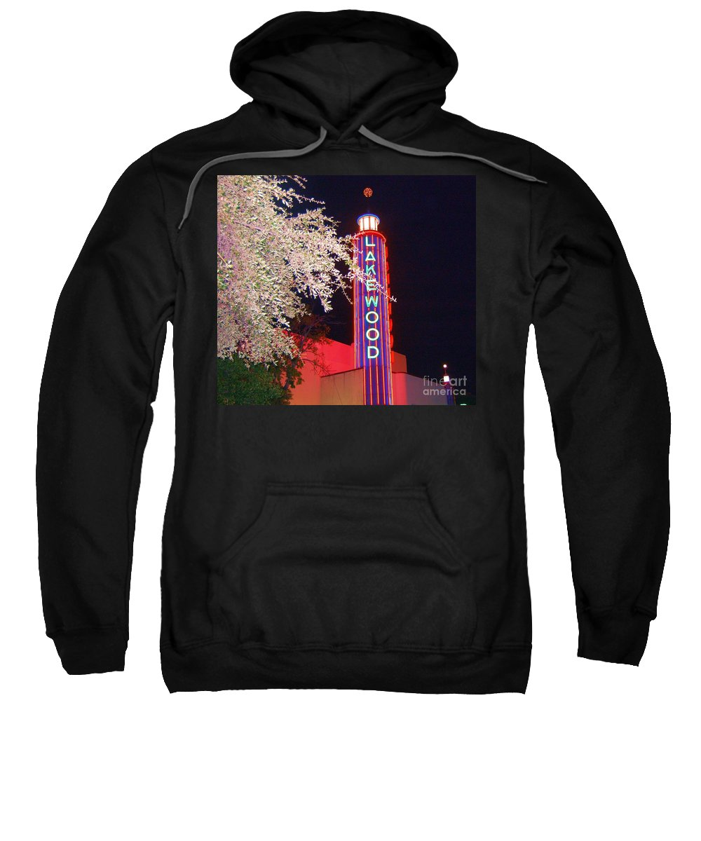 Theater Sweatshirt featuring the photograph Lakewood Theater by Debbi Granruth