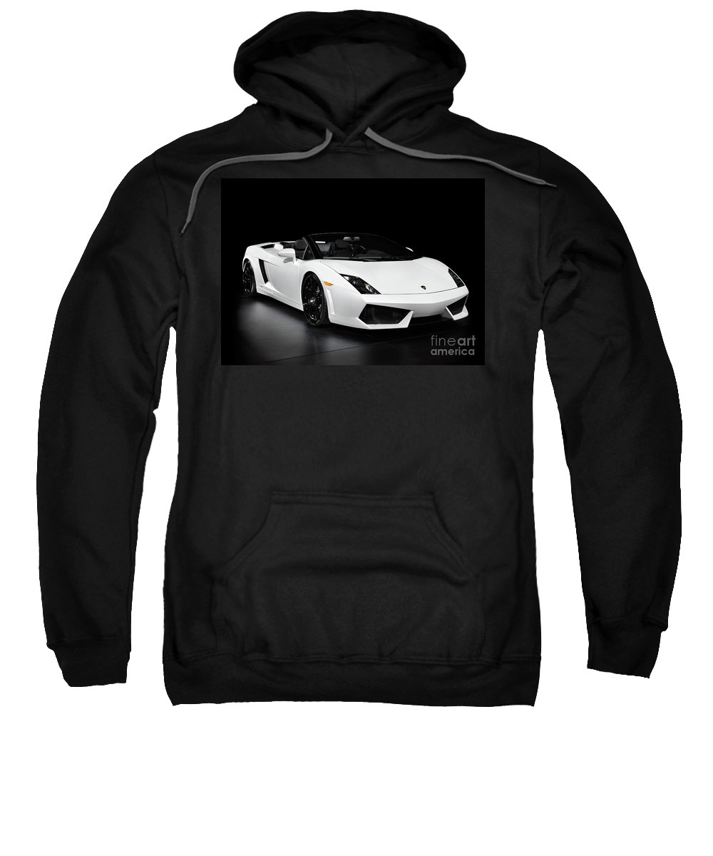 Lamborghini Sweatshirt featuring the photograph Lamborghini Gallardo Lp560-4 Spyder by Oleksiy Maksymenko