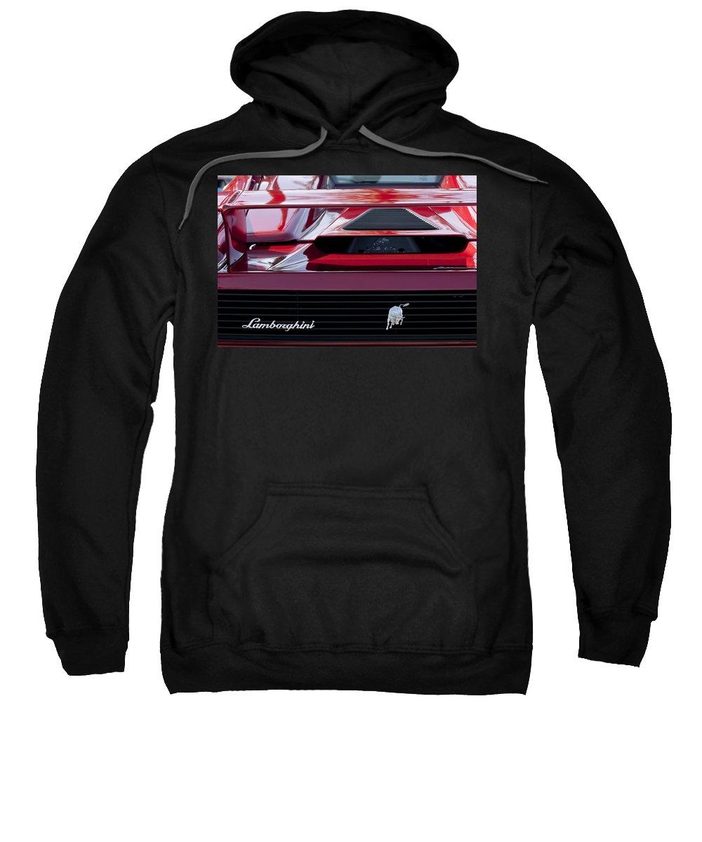Lamborghini Sweatshirt featuring the photograph Lamborghini Rear View by Jill Reger