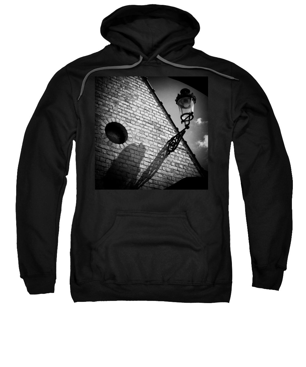 Lamp Sweatshirt featuring the photograph Lamp With Shadow by Dave Bowman