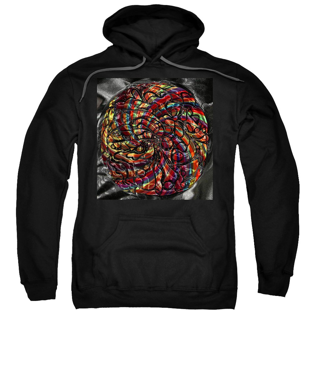 Abstract Sweatshirt featuring the digital art Lampion by Mark Sellers