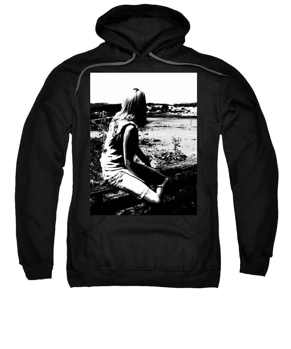 Land Down Under Sweatshirt featuring the photograph Land Down Under by Ed Smith