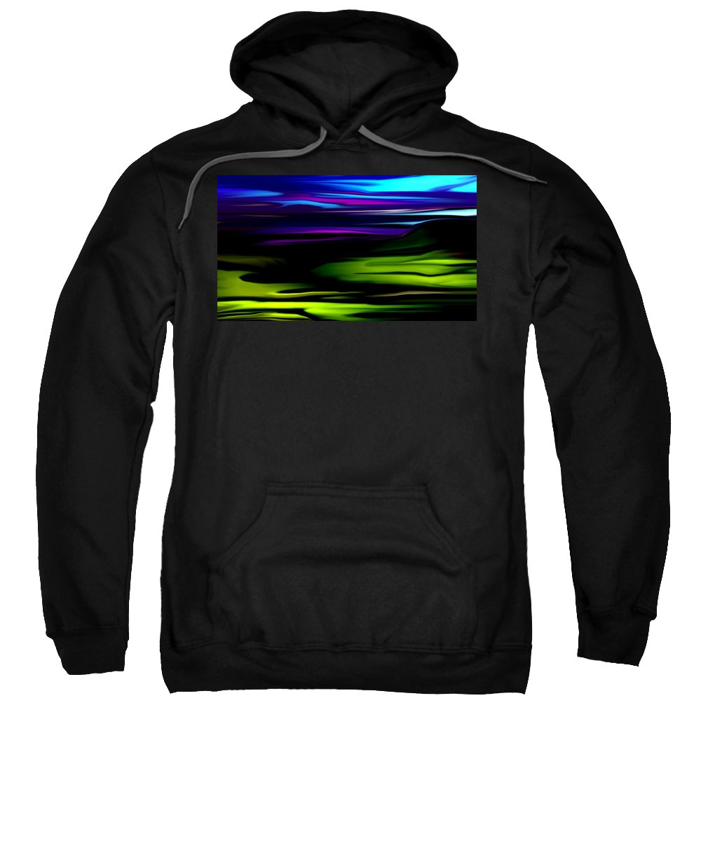 Abstract Expressionism Sweatshirt featuring the digital art Landscape 8-05-09 by David Lane