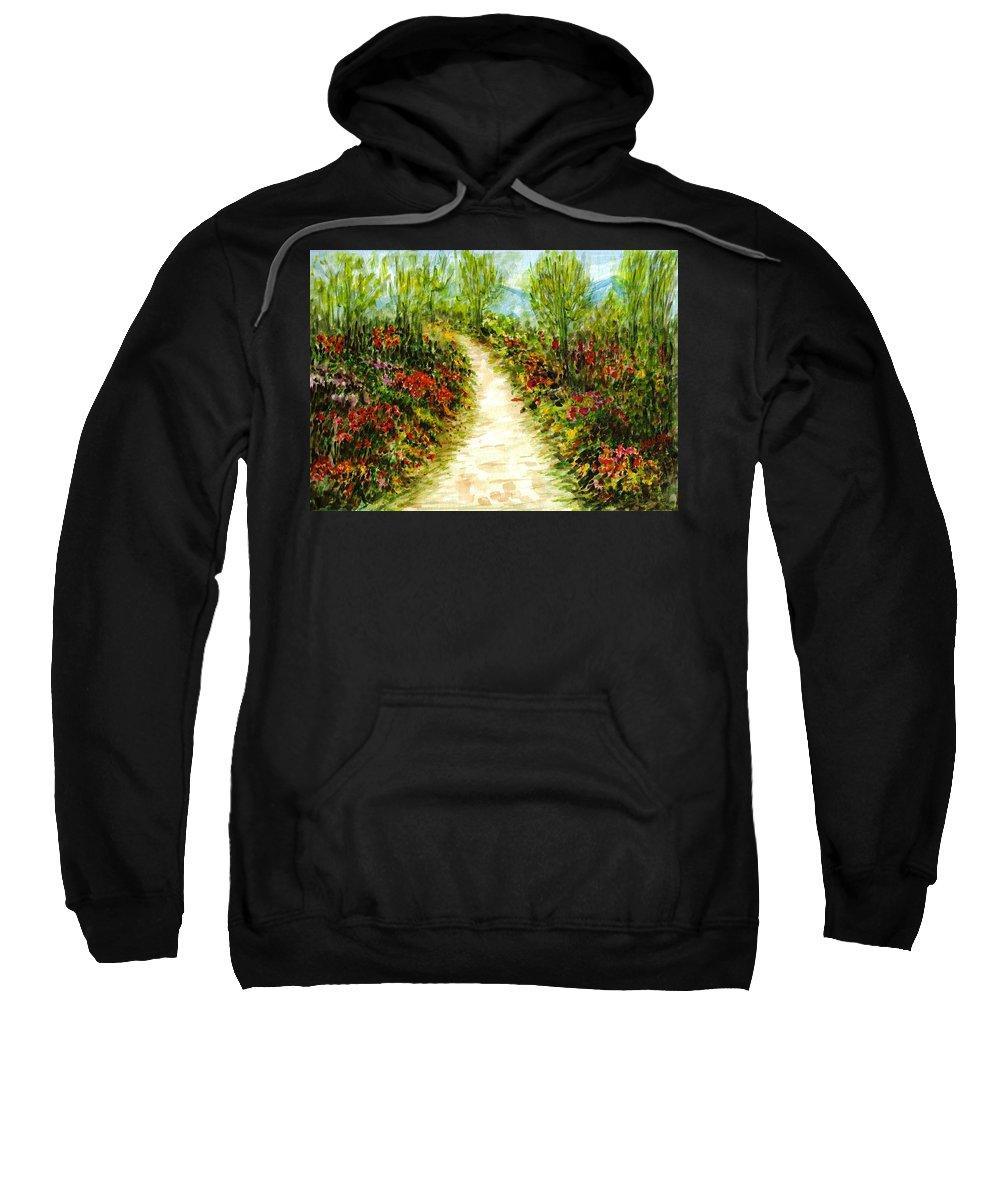 Landscape Sweatshirt featuring the painting Landscape by Harsh Malik