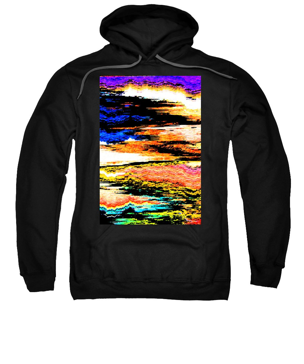 Abstract Sweatshirt featuring the digital art Landscapes by Lenore Senior