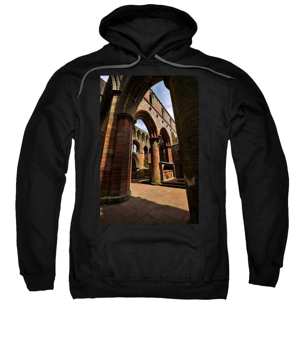 Travel Sweatshirt featuring the photograph Lanercost Priory by Louise Heusinkveld