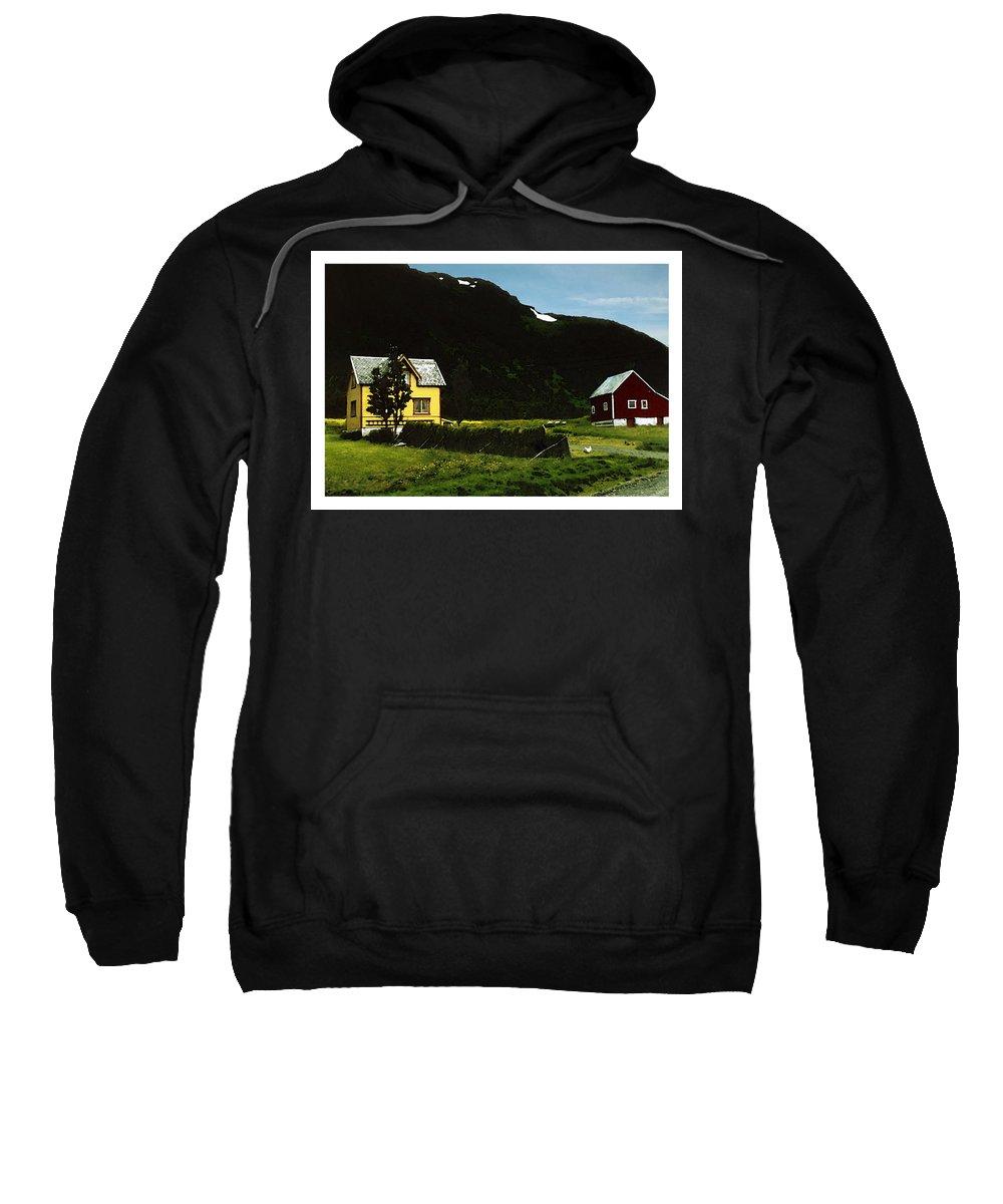 House Sweatshirt featuring the digital art Langsund by Are Lund
