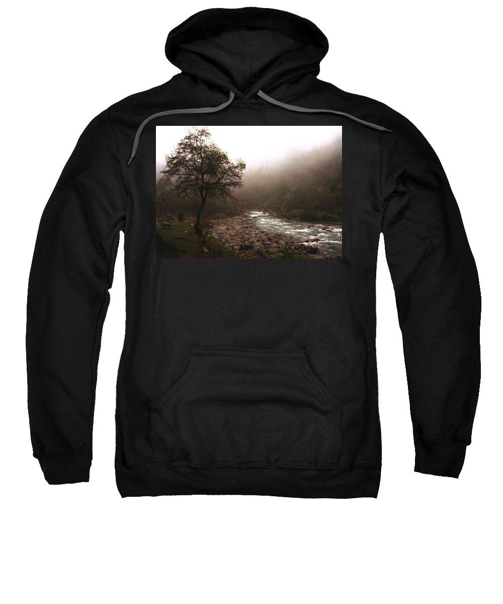 Tree Sweatshirt featuring the photograph Langtang Morning by Patrick Klauss