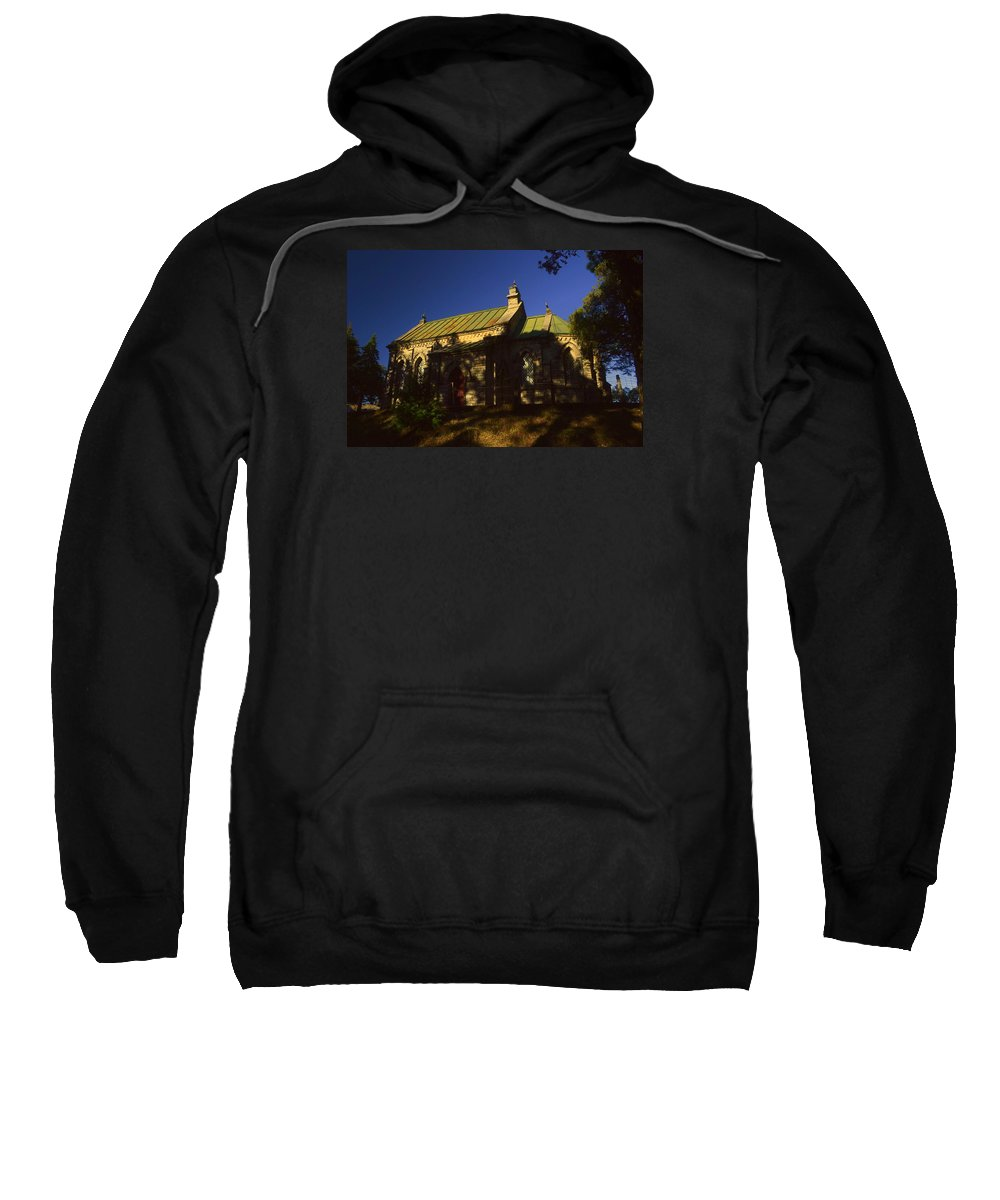 Wallpaper Art Print Phone Case T-shirt Beautiful Duvet Case Pillow Tote Bags Shower Curtain Greeting Cards Mobile Phone Apple Android Lansdowne Church Old Building Cross Christian Photography  Sweatshirt featuring the photograph Lansdowne Church 4 by Salman Ravish
