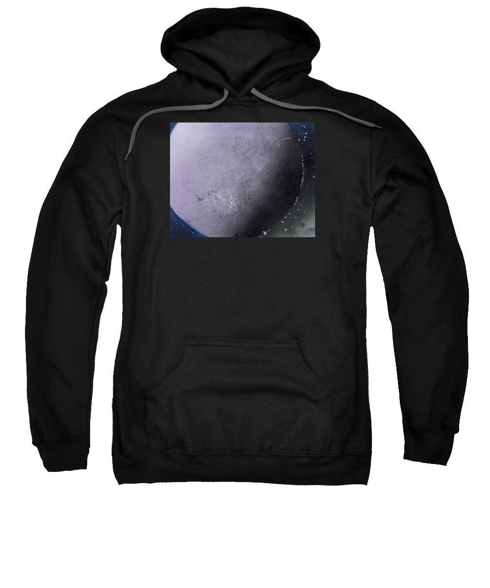 Spray Paint Sweatshirt featuring the painting Large Purple Planet by George Robert Allen