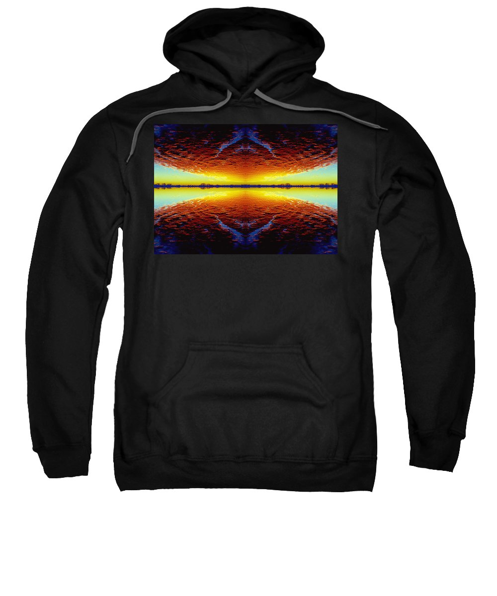 Sunset Sweatshirt featuring the photograph Last Sunset by Nancy Mueller