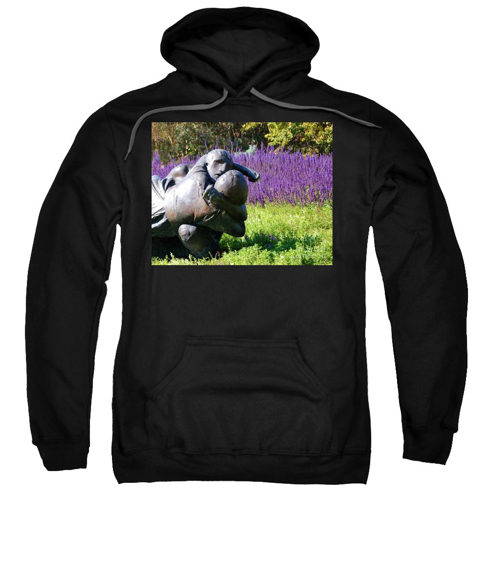 Statue Sweatshirt featuring the photograph Lavender Lovers by Debbi Granruth