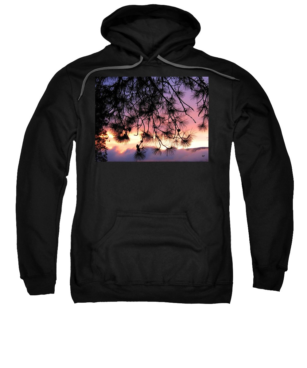 Sunset Sweatshirt featuring the photograph Lavender Sunset by Will Borden