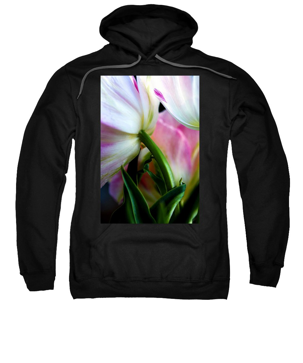 Flower Sweatshirt featuring the photograph Layers of Tulips by Marilyn Hunt