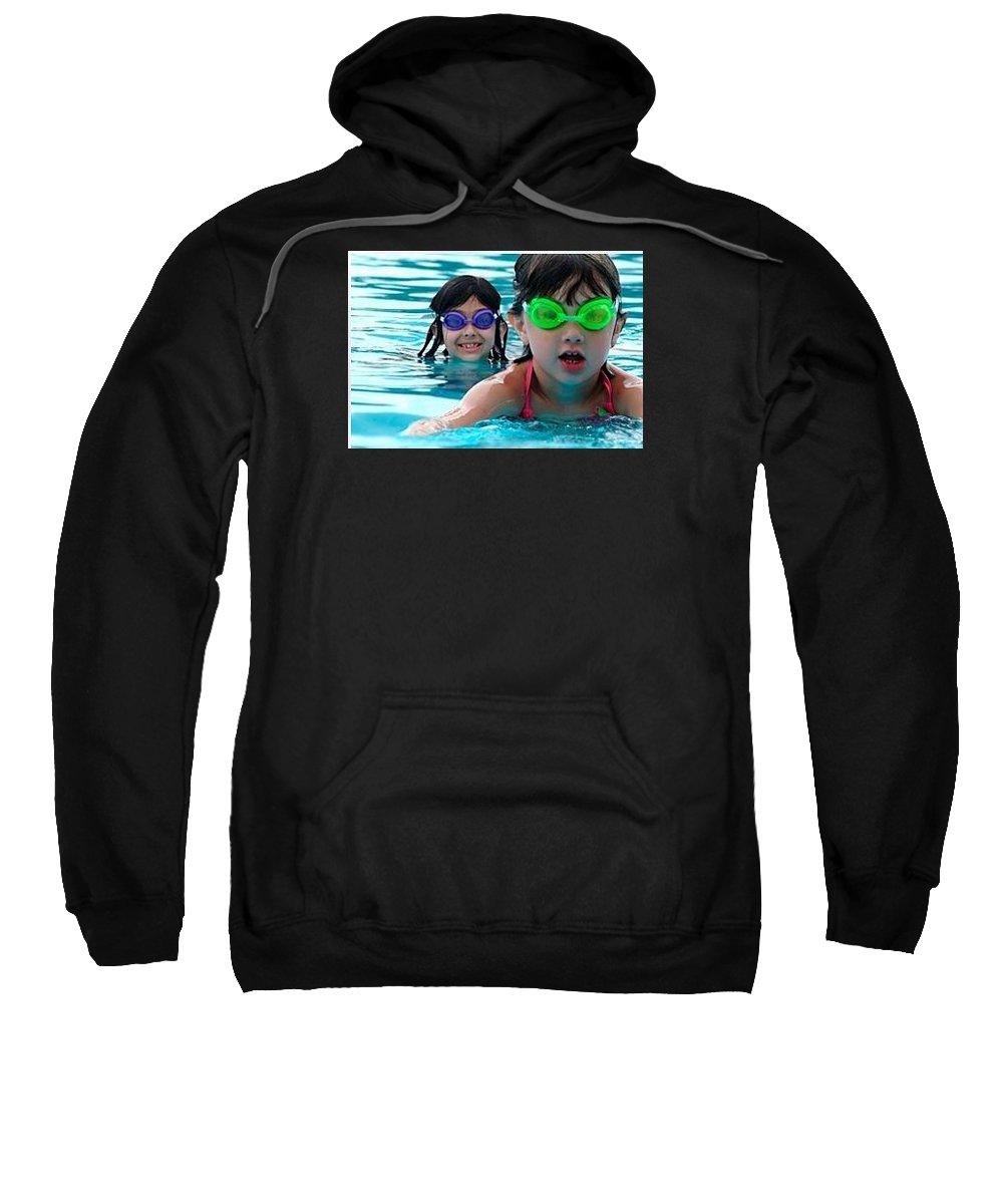 Sarasota Swim School Sweatshirt featuring the photograph Learn To Swim by Mermaid Swim School