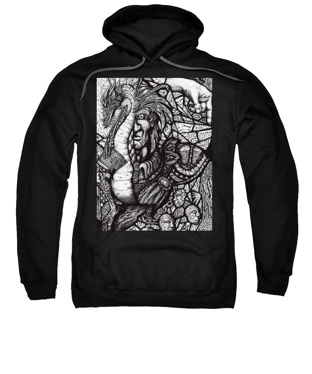 Pen And Ink Sweatshirt featuring the drawing Legend by Tobey Anderson