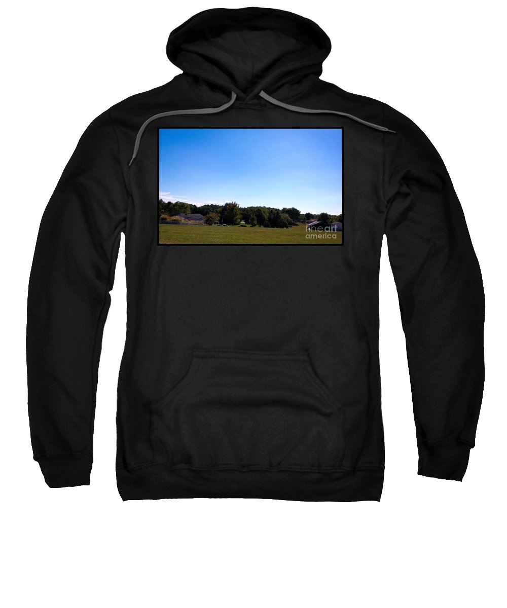 Countryside Sweatshirt featuring the photograph Length Wise Scene Of Countryside In Frederick Maryland by Debra Lynch