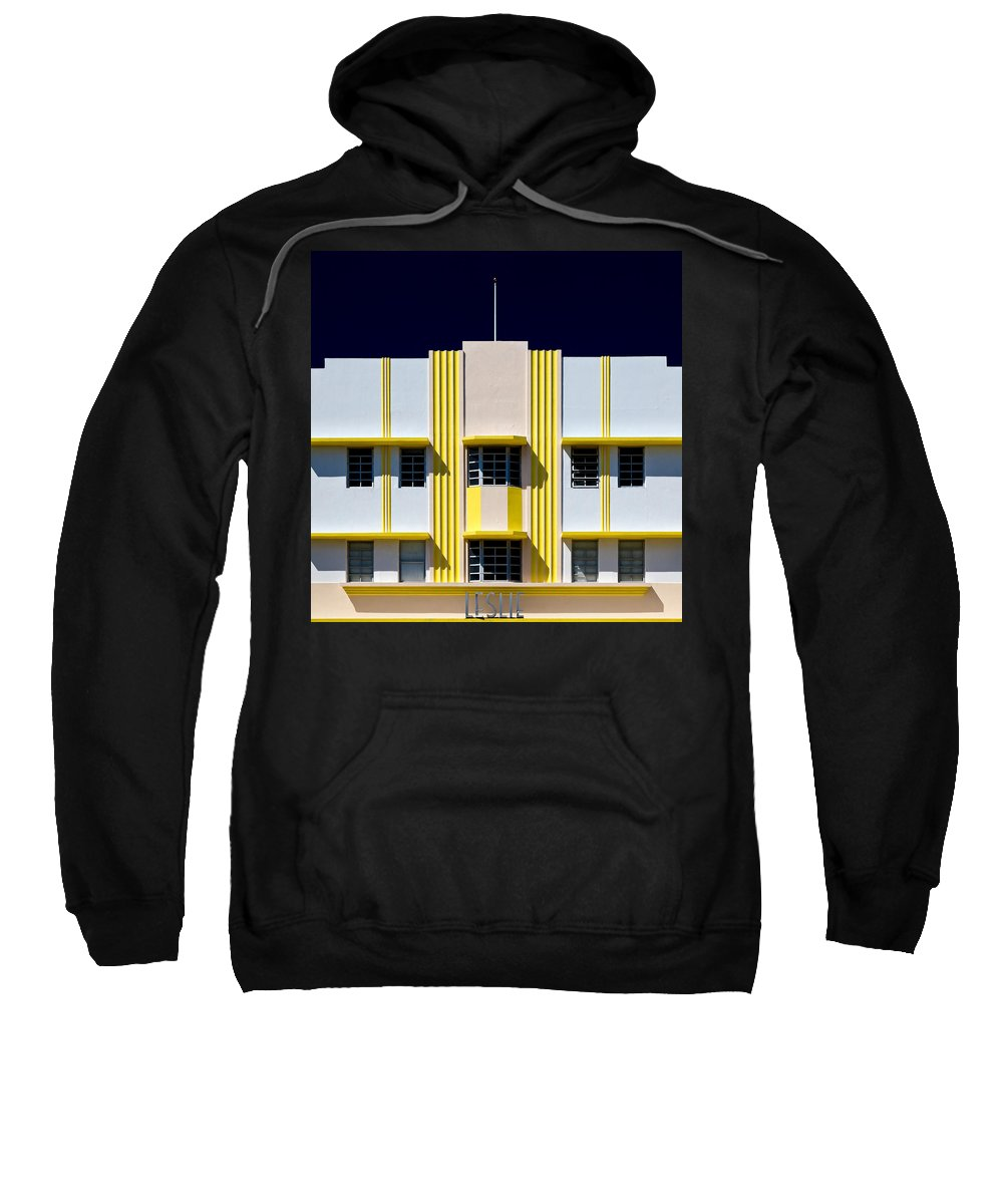 Leslie Sweatshirt featuring the photograph Leslie Hotel by Dave Bowman
