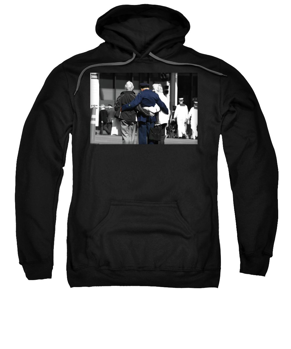 Anzac Day Sweatshirt featuring the photograph Lest We Forget by Douglas Barnard