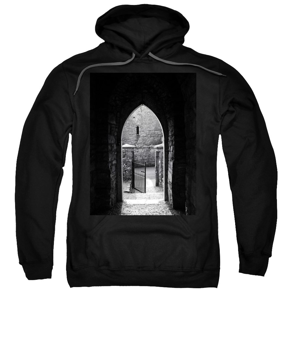 Irish Sweatshirt featuring the photograph Let There Be Light Cong Church And Abbey Cong Ireland by Teresa Mucha