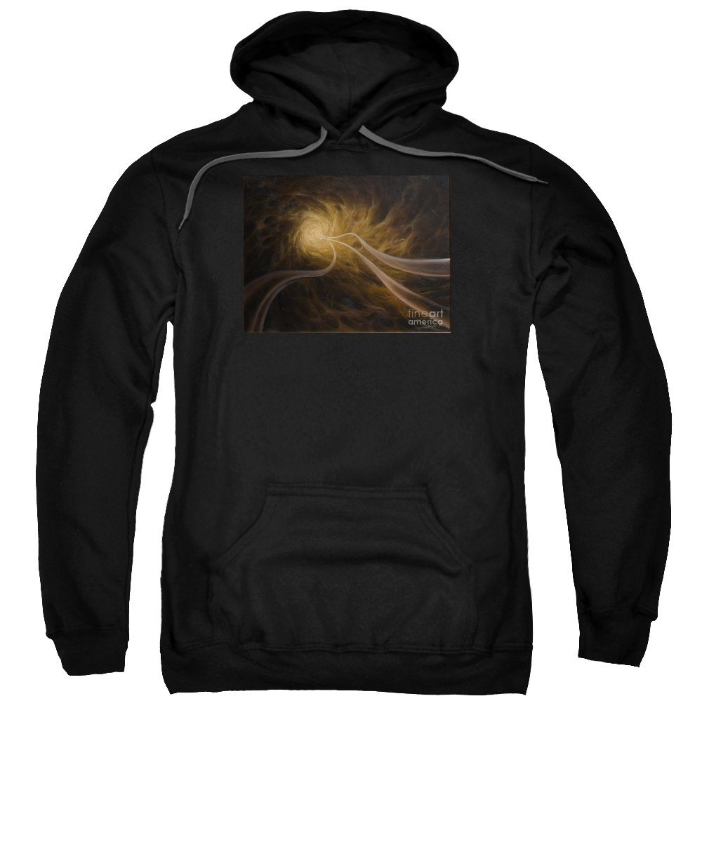 Abstract Sweatshirt featuring the painting Life After Death by Arthur Braginsky