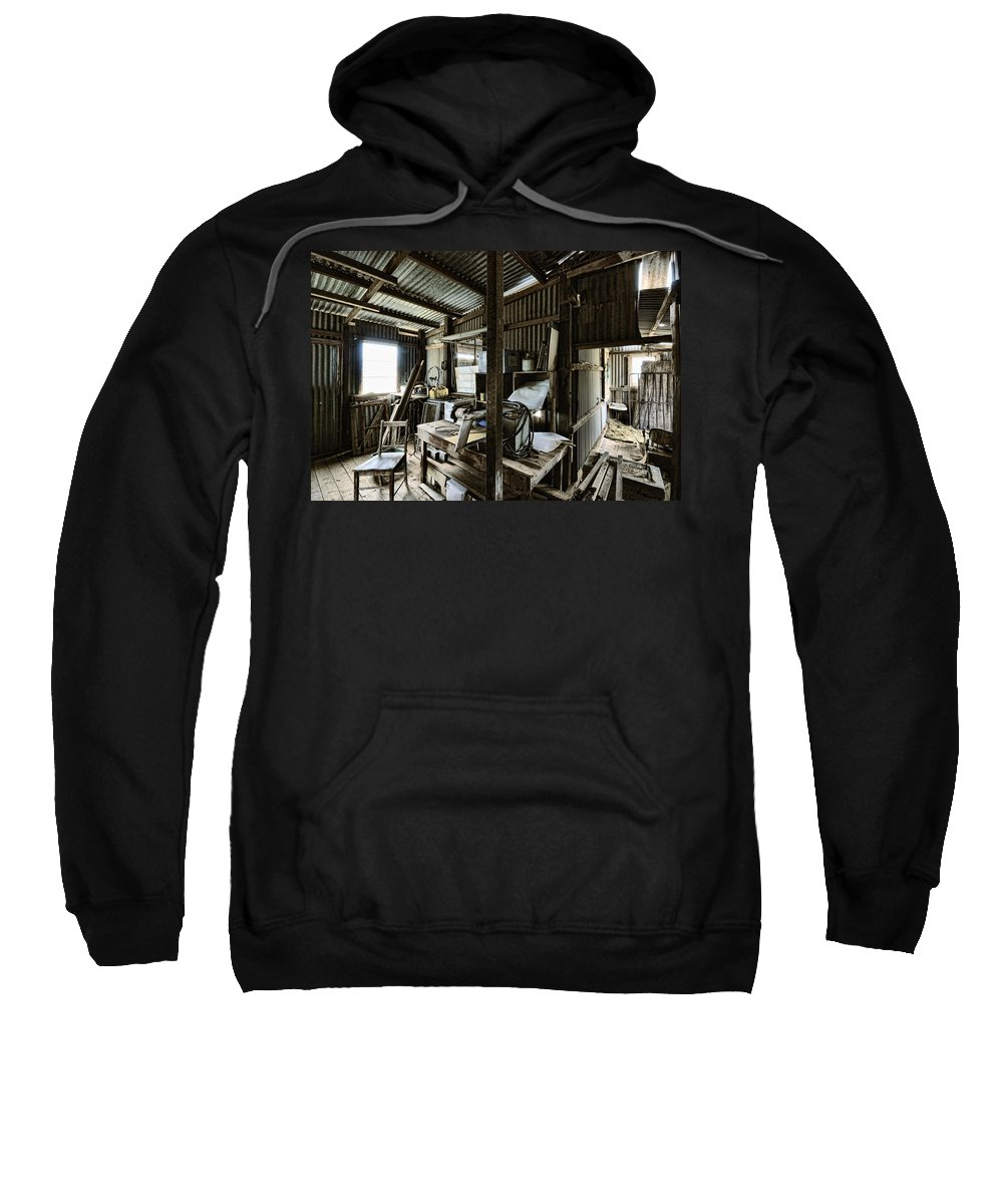 Shed Sweatshirt featuring the photograph Life As A Shed by Wayne Sherriff