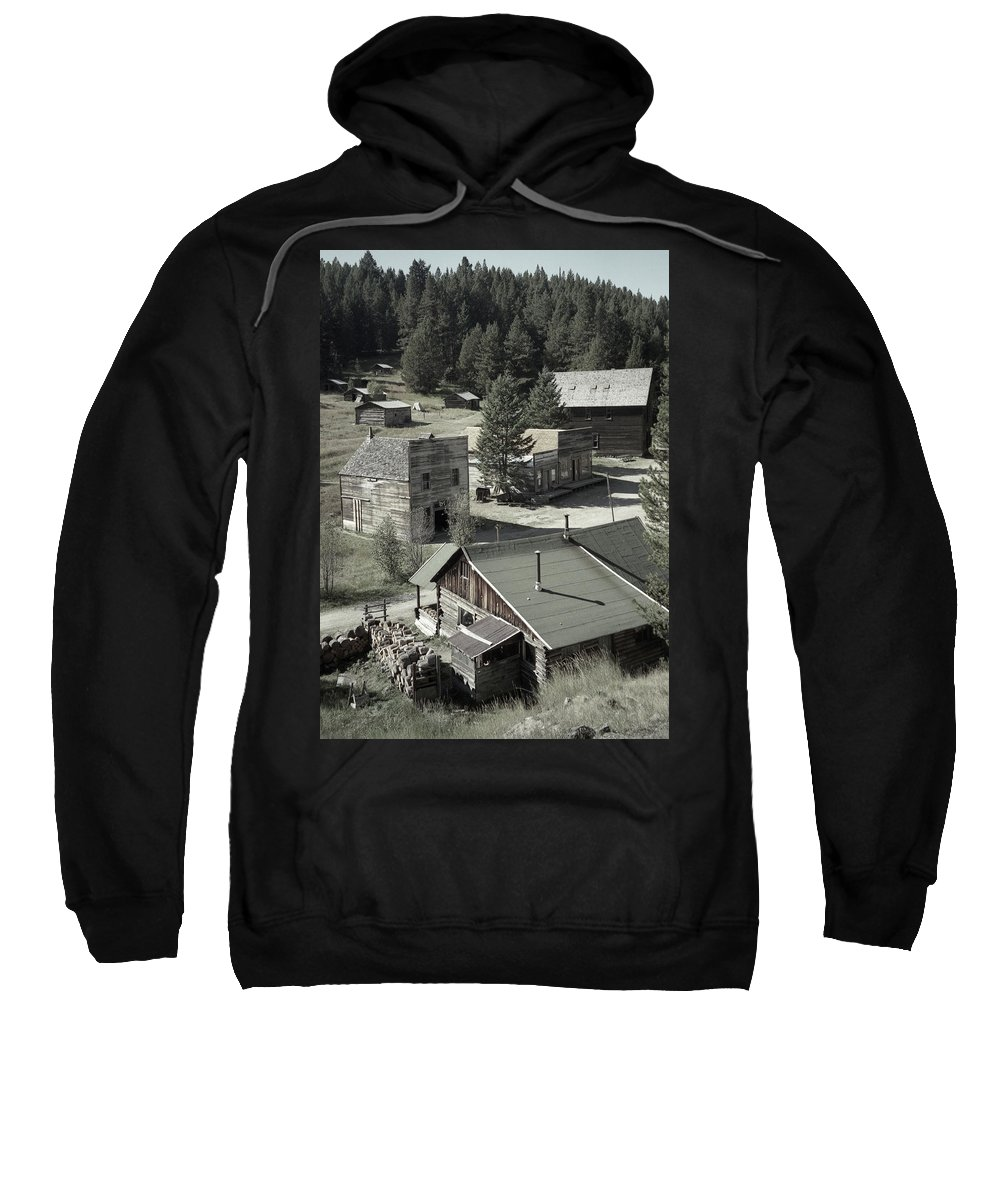 Ghost Towns Sweatshirt featuring the photograph Life In A Ghost Town by Richard Rizzo