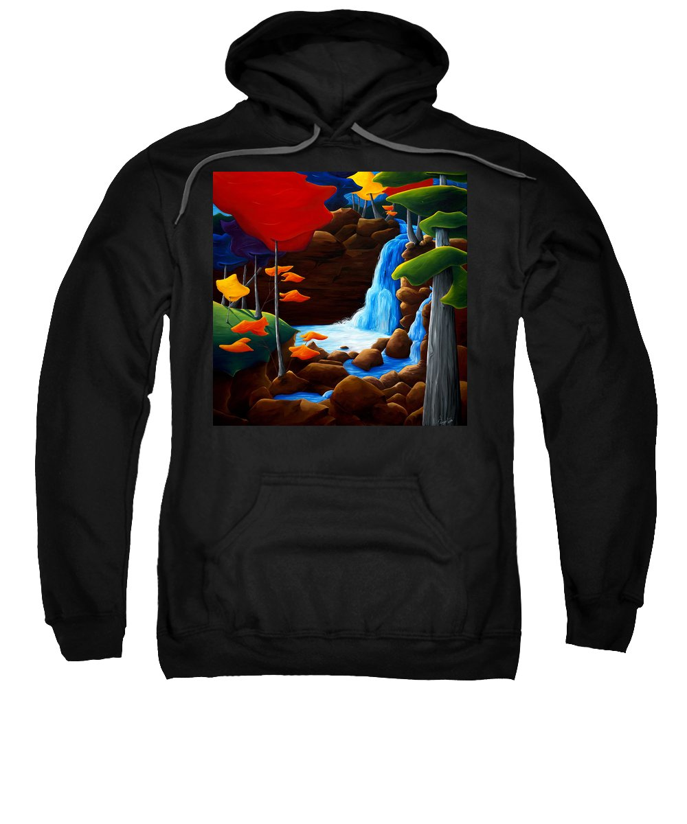 Landscape Sweatshirt featuring the painting Life In Progress by Richard Hoedl