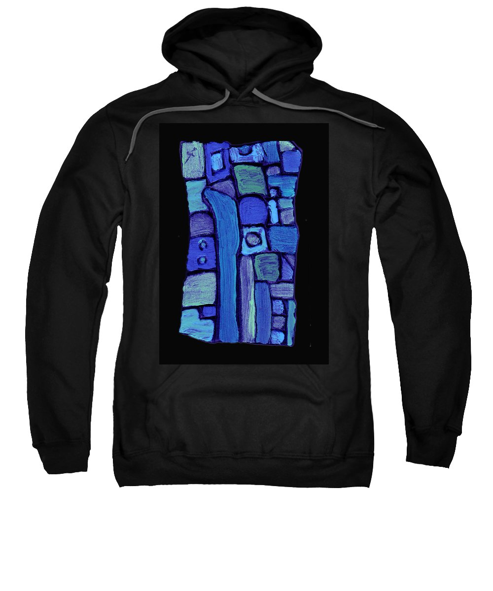 Abstract Sweatshirt featuring the painting Life In The Pond by Wayne Potrafka
