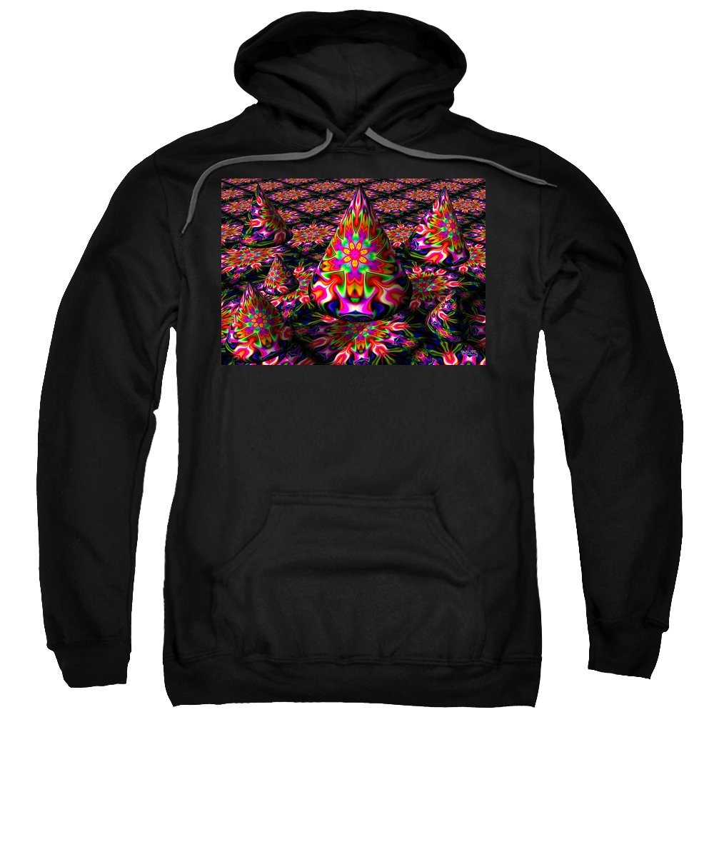 Party Sweatshirt featuring the digital art Life Of The Party by Robert Orinski