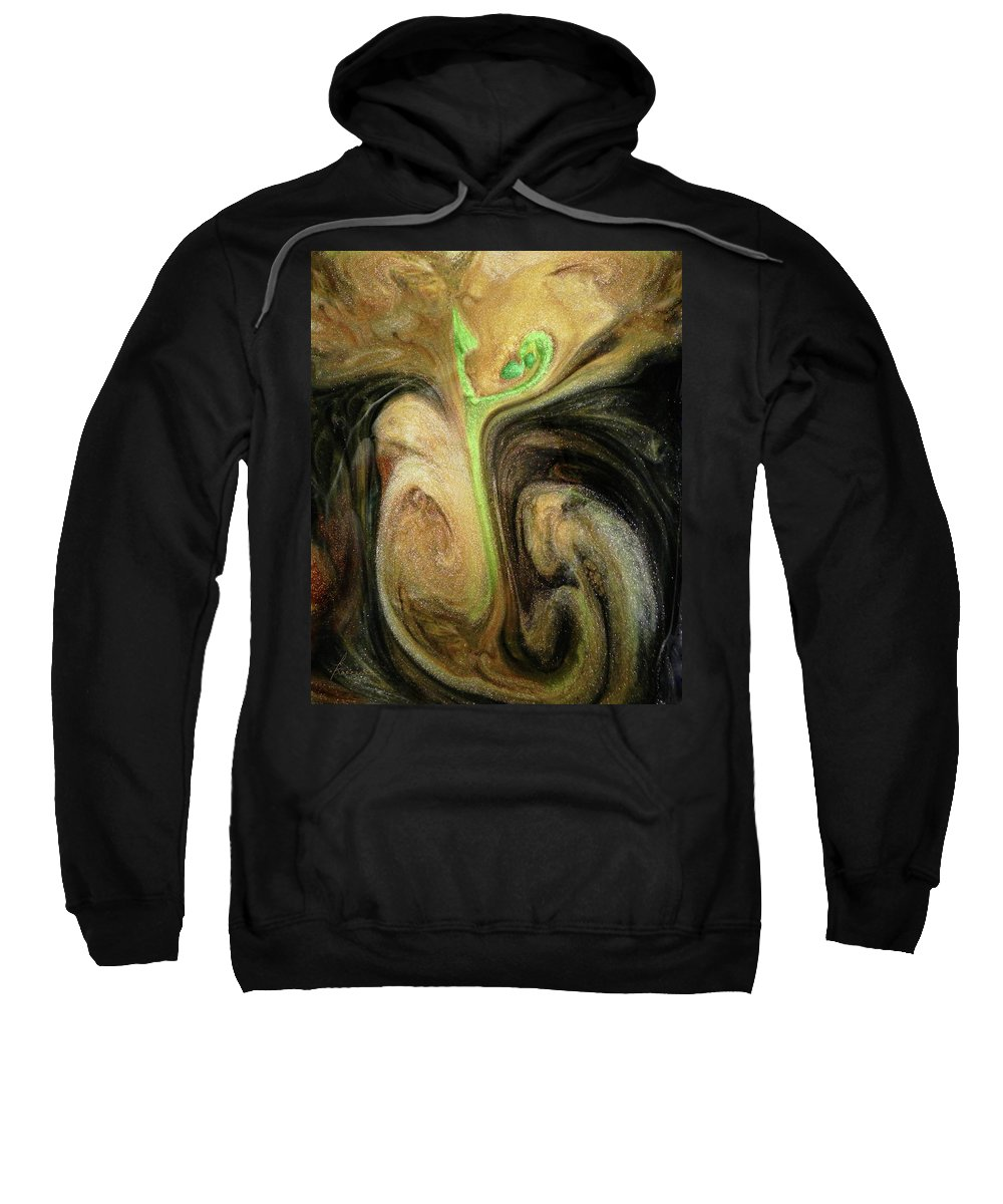 Struggle Sweatshirt featuring the digital art Life Prevailing by Francesa Miller